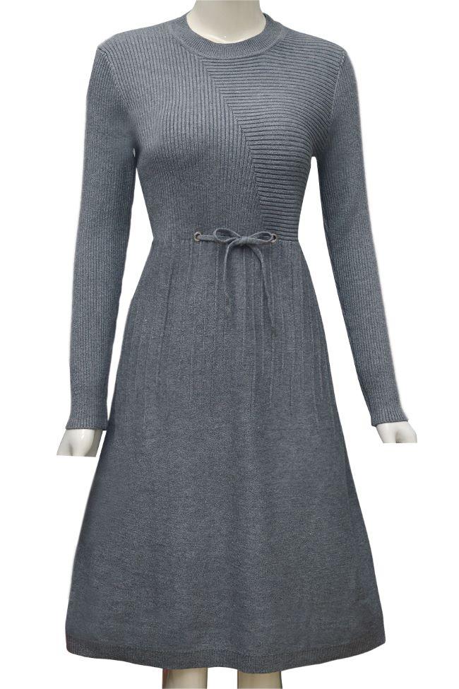 Váy len thời trang ELMI cao cấp màu ghi EV44