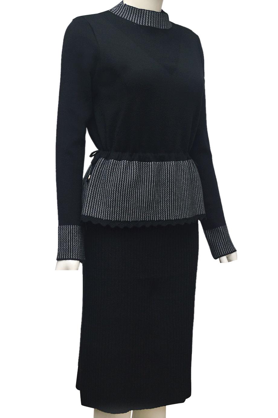 Váy len thời trang ELMI cao cấp màu đen EV45-1