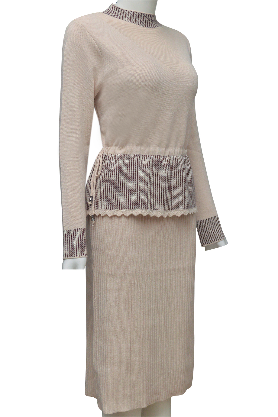 Váy len thời trang ELMI cao cấp màu kem EV45