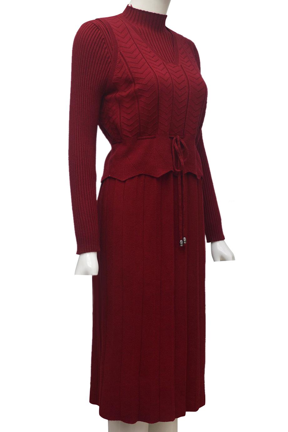 Váy len cặp thời trang ELMI cao cấp màu đỏ đô EV46-1