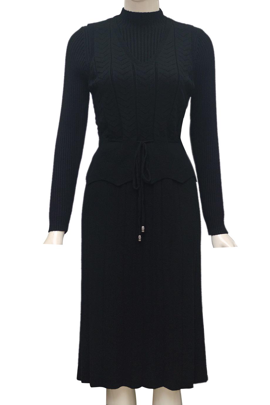 Váy len cặp thời trang ELMI cao cấp màu đen EV46