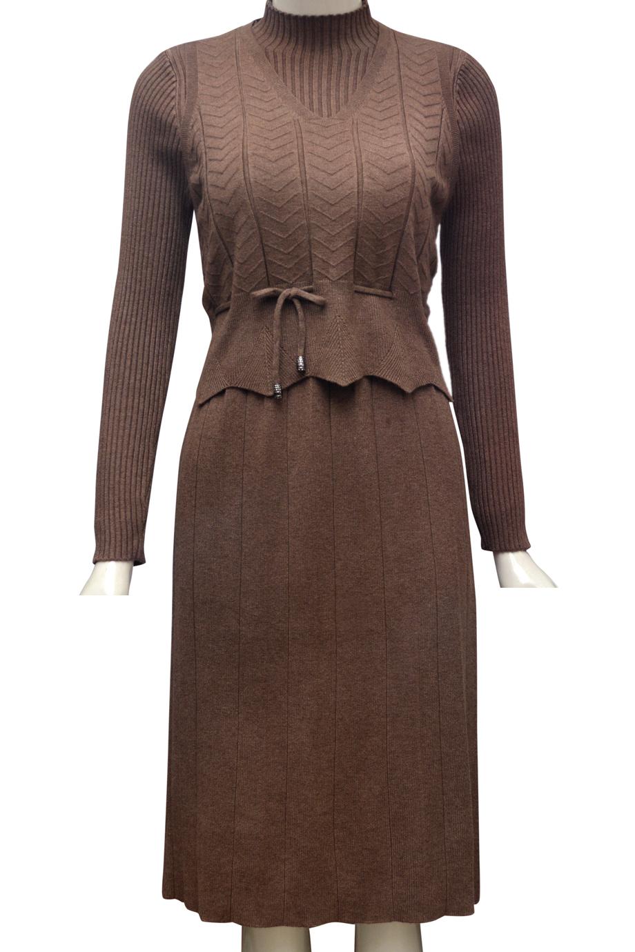 Váy len căp thời trang ELMI cao cấp màu nâu EV46-2