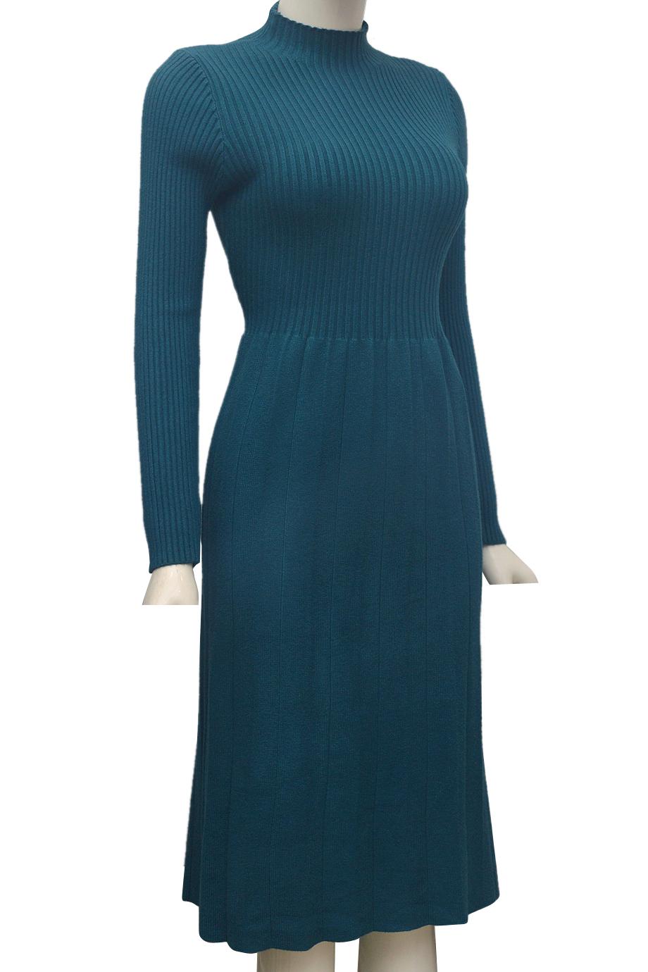 Váy len cặp thời trang ELMI cao cấp màu xanh EV46-3