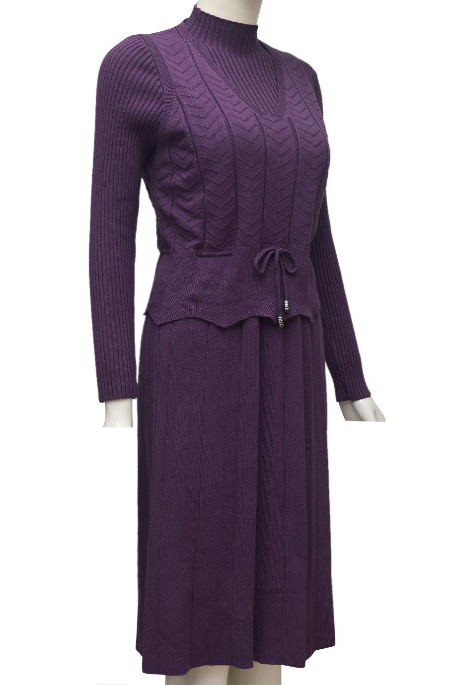 Váy len cặp thời trang ELMI cao cấp màu tím EV46-4
