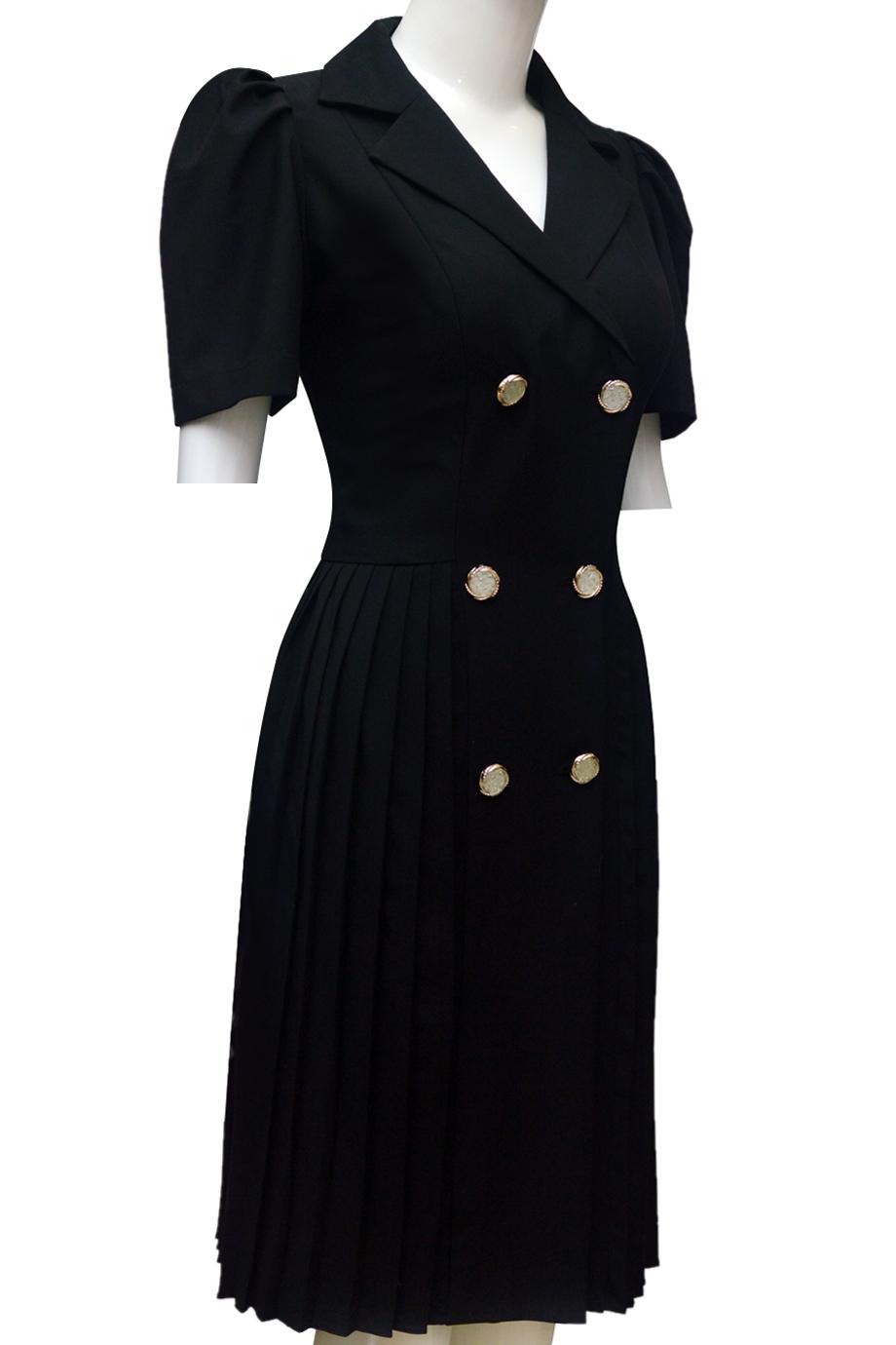 Váy xếp ly ELMI thời trang cao cấp màu đen EV50
