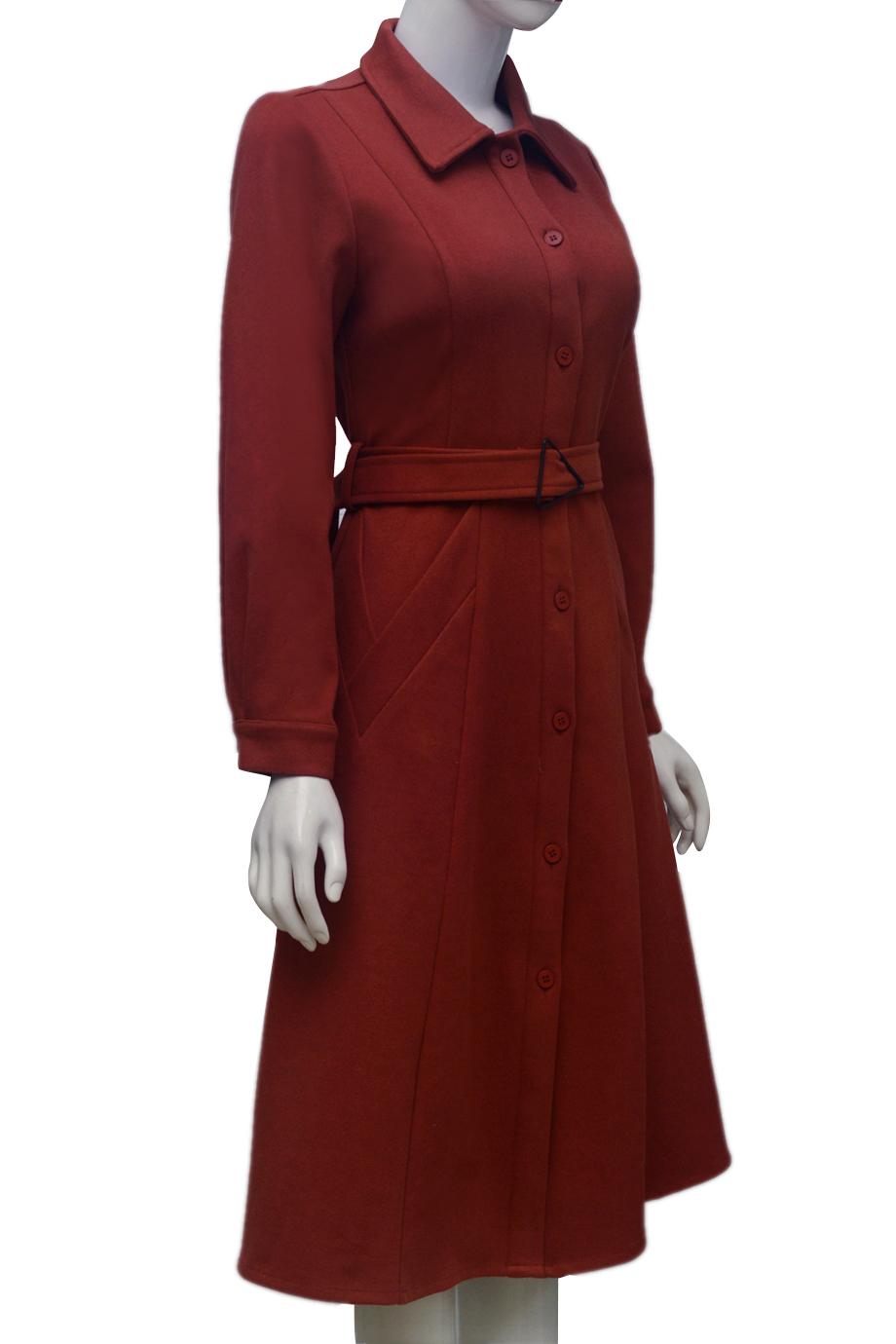 Áo choàng dạ ELMI thời trang cao cấp màu cam EV53