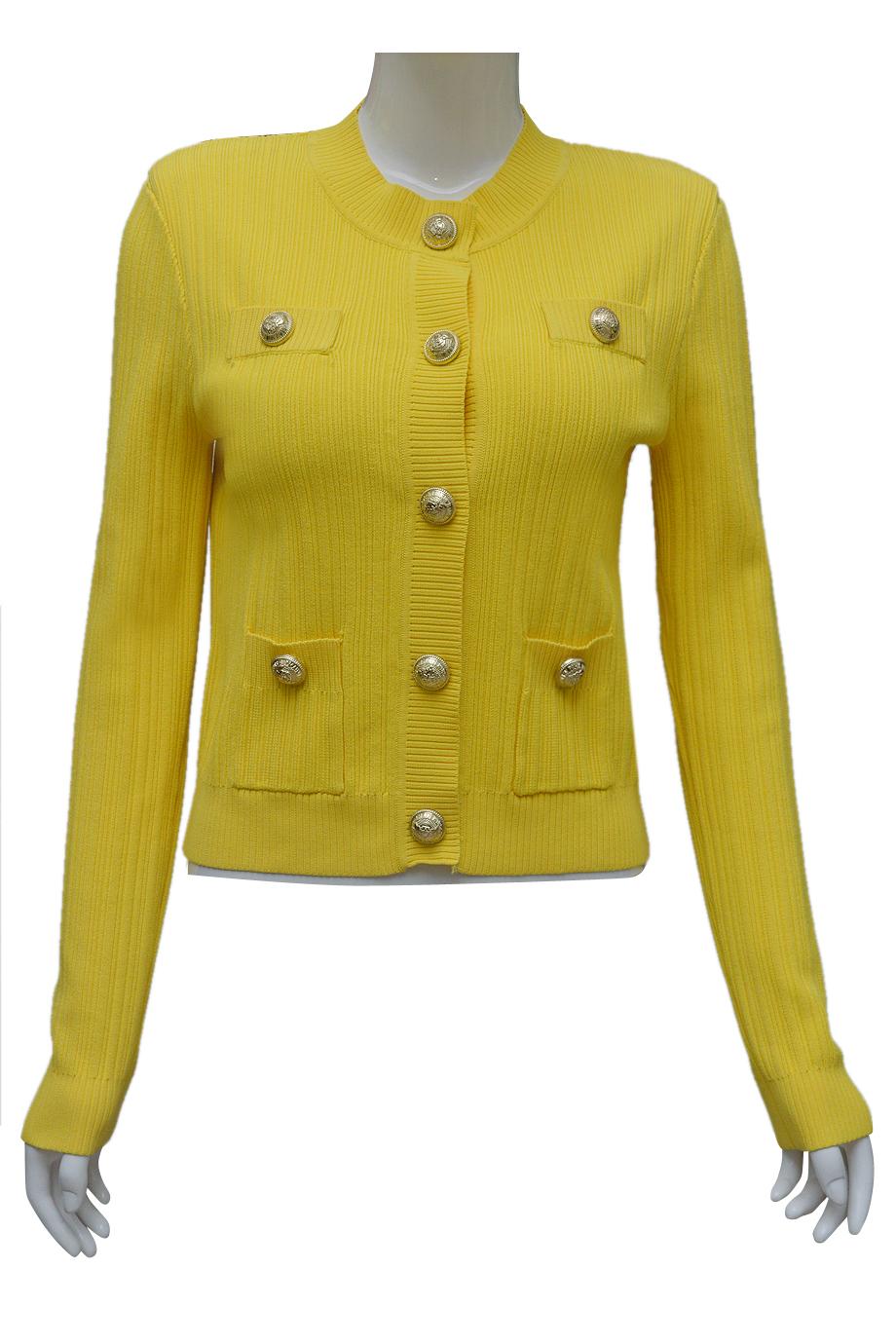 Áo len ELMI thời trang cao cấp màu vàng EV56