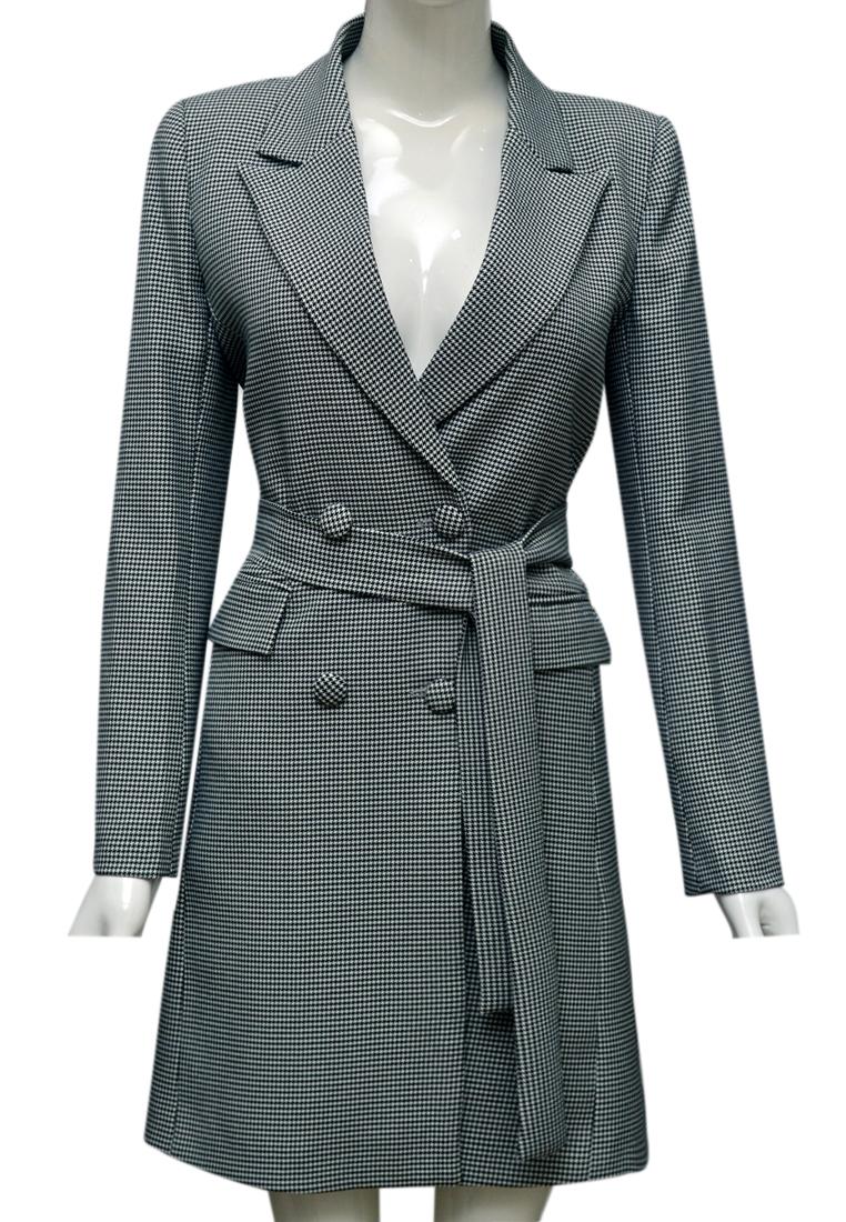 Áo khoác nữ ELMI thời trang cao cấp kẻ đen trắng EV60