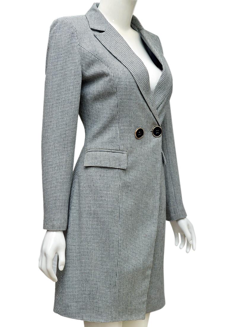 Áo khoác dạ kẻ ELMI thời trang cao cấp EV65