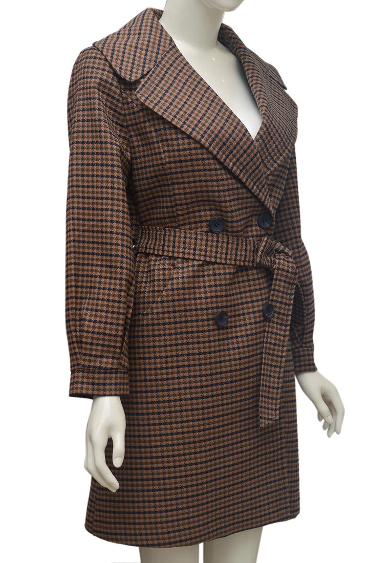 Áo khoác dạ kẻ caro nữ ELMI thời trang cao cấp EV68
