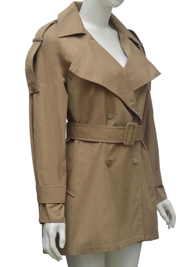 Áo khoác kaki nữ ELMI thời trang cao cấp màu be EV69