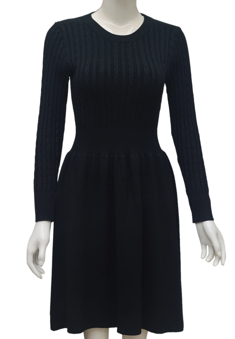 Váy len nữ ELMI thời trang cao cấp màu đen EV83