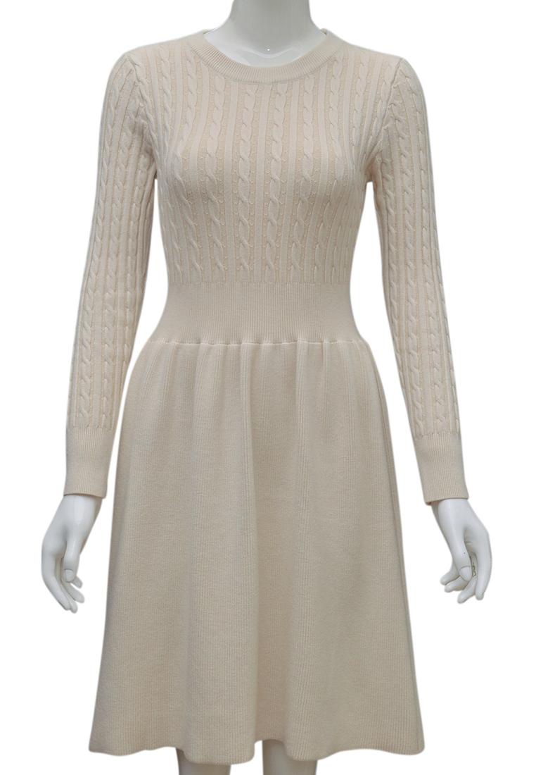 Váy len nữ ELMI thời trang cao cấp màu trắng EV83-2