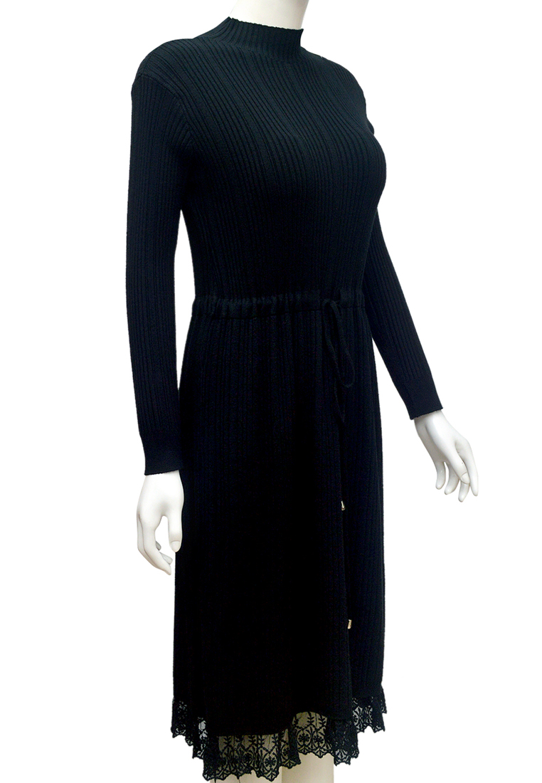 Váy len phối ren ELMI thời trang cao cấp màu đen EV87-1