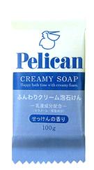 Xà phòng chiết xuất từ dầu cọ Pelican Creamy Soap 100gr - Hàng Nhật nội địa