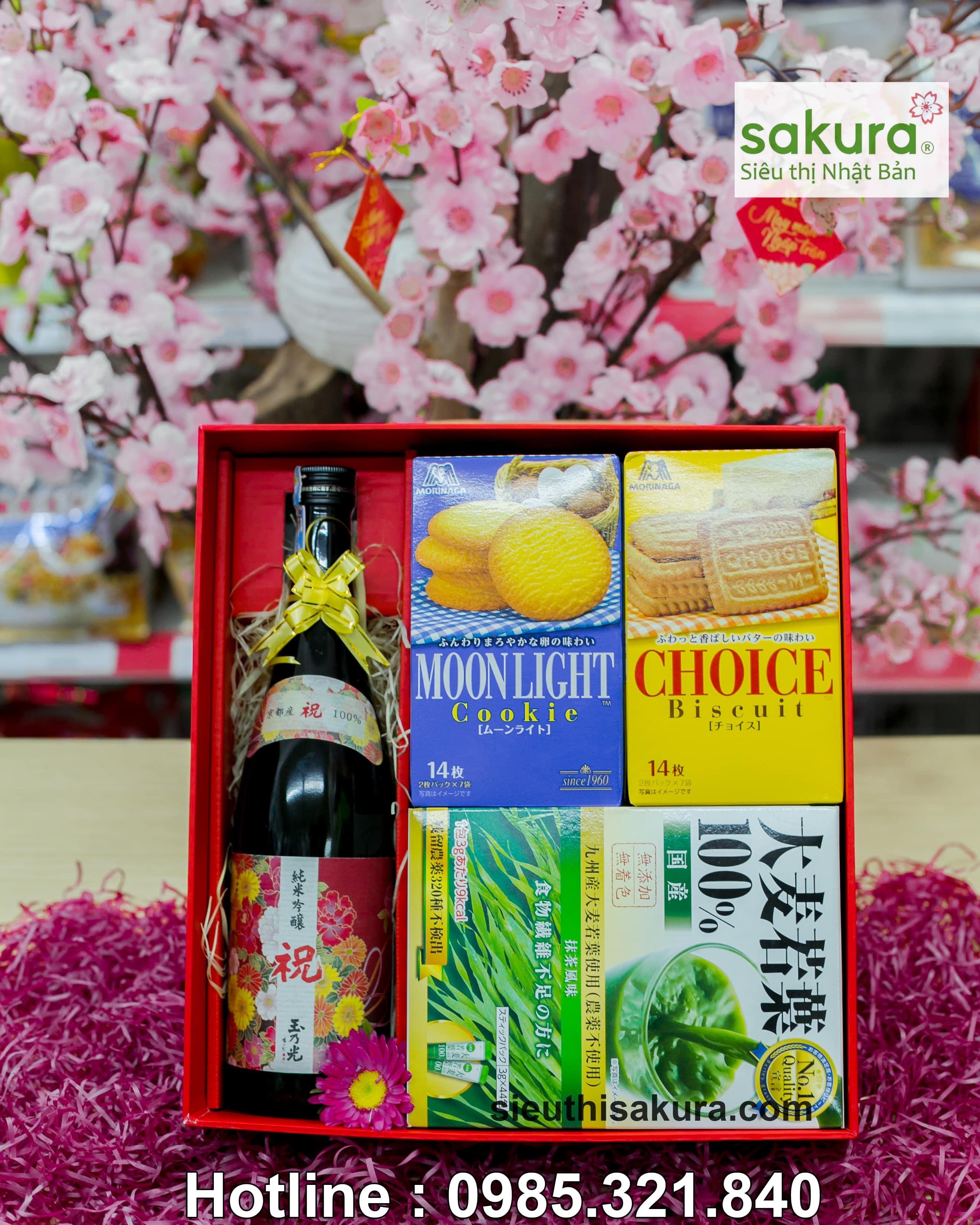 Hộp quà tết Sakura: Xuân Phúc Lộc