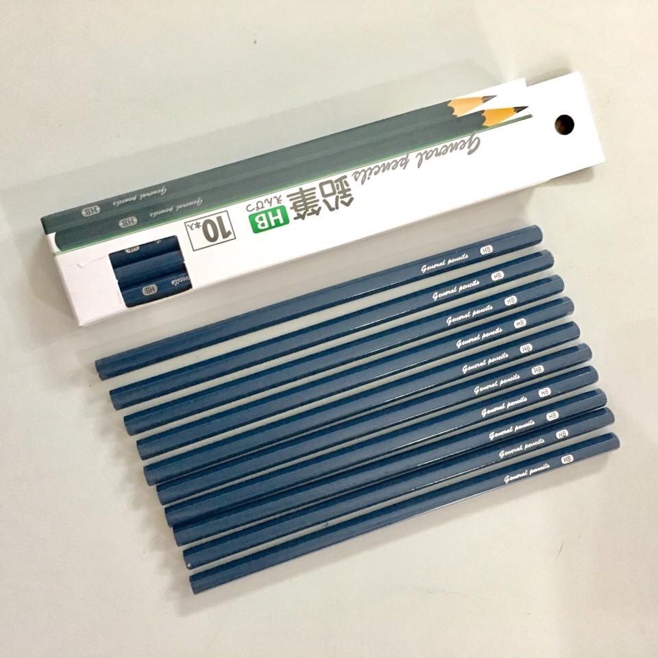 Set 10 bút chì cứng HB - Hàng Nhật nội địa