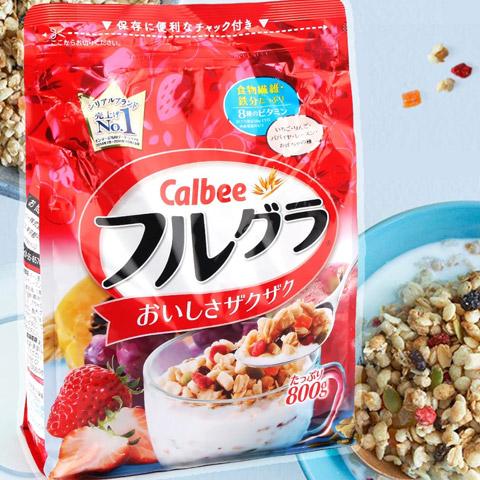 Ngũ cốc Calbee 800g vị tổng hợp- Hàng Nhật nội địa