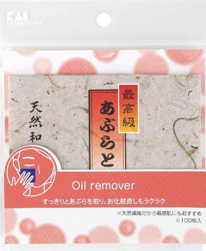 Set 100 miếng thấm dầu mặt KAI cao cấp - Hàng Nhật nội địa