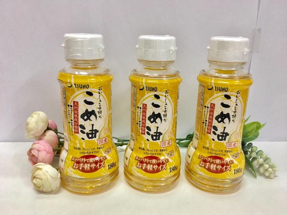 Dầu gạo cao cấp Tsuno 180gr - Hàng Nhật nội địa