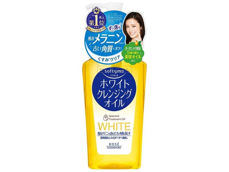 Dầu tẩy trang trắng da Softymo White Cleansing Oil 230ml, màu vàng Kose - Hàng Nhật nội địa