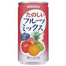 Nước hoa quả mix Sangaria 190g - Hàng Nhật nội địa