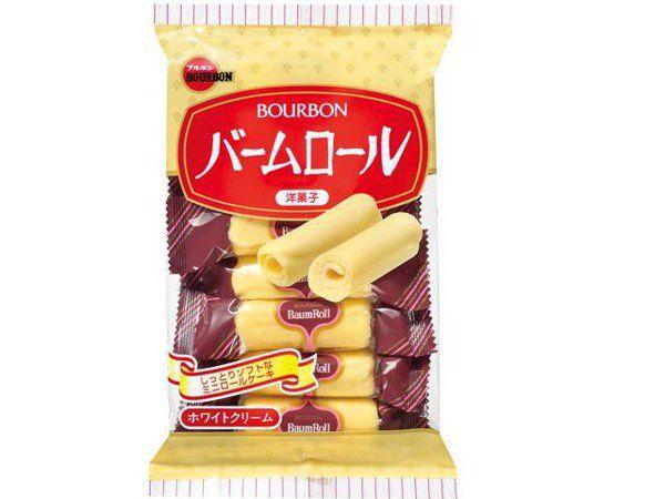 Bánh kem trứng cuộn 8 chiếc BOURBON- Hàng Nhật nội địa