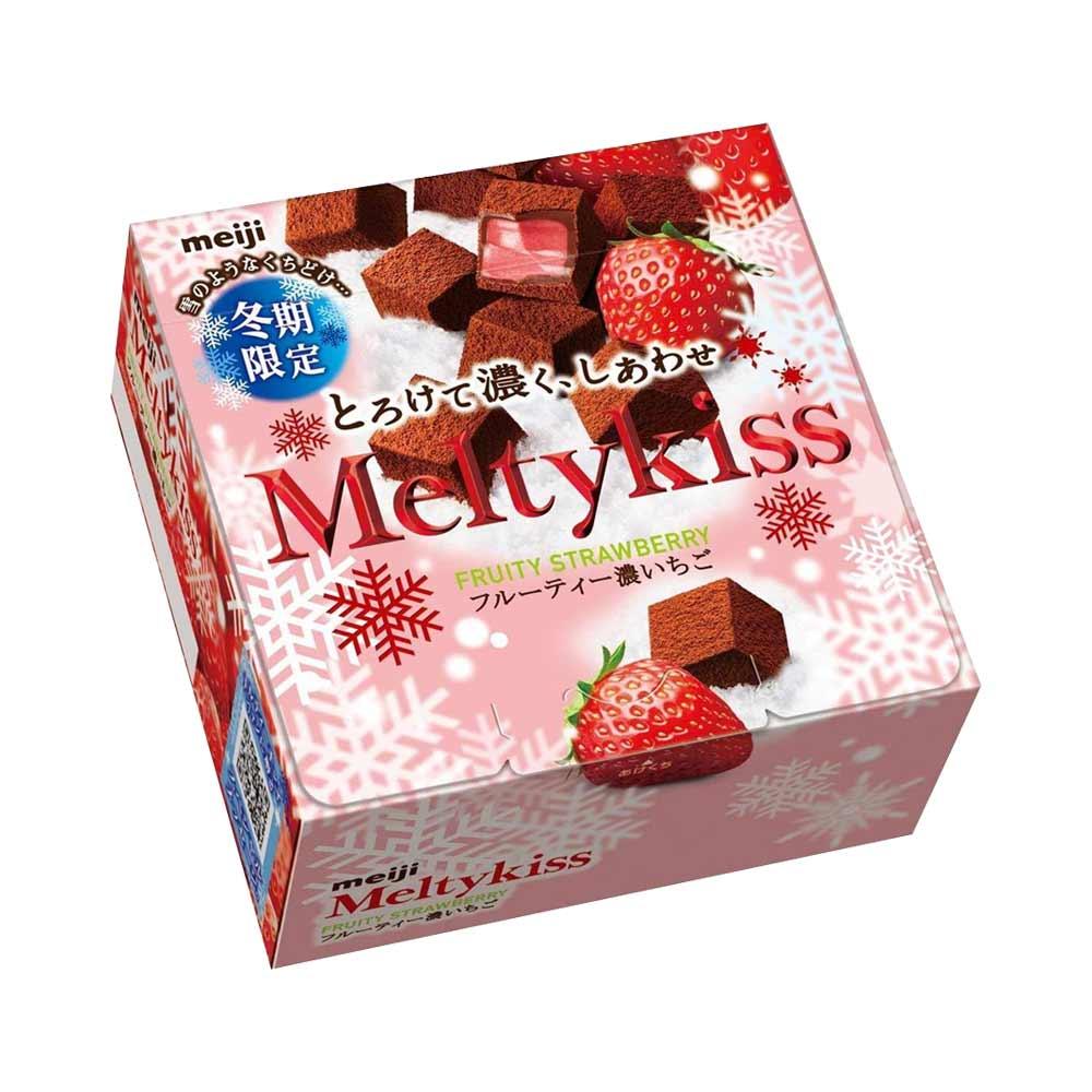 Socola Meiji Melty Kiss nhân dâu tây 56g - Hàng Nhật nội địa