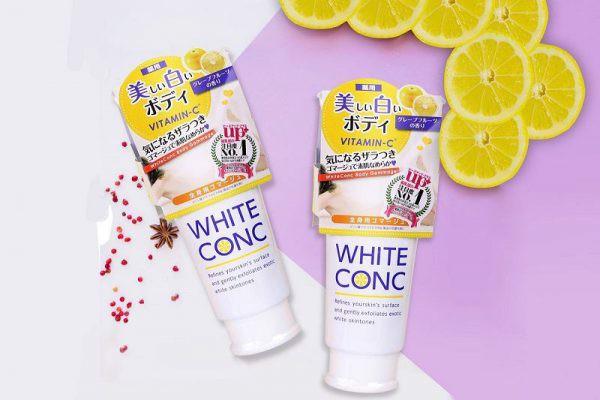TẨY TẾ BÀO CHẾT DƯỠNG TRẮNG DA WHITE CONC 180G - Hàng Nhật nội địa