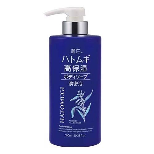 Sữa Tắm Dưỡng Ẩm Trắng Da Hatomugi The Body Soap 600ml - Hàng Nhật nội địa
