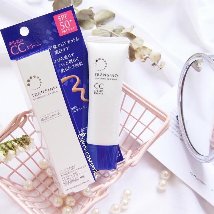 Kem trang điểm dưỡng trắng Transino Whitening CC Cream 30g của Nhật Bản - Hàng Nhật nội địa