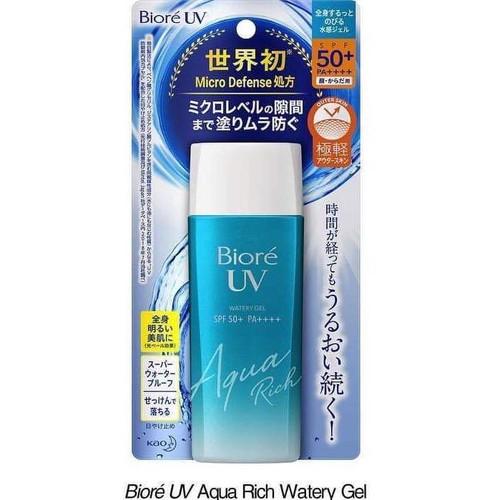 Kem Chống Nắng Biore UV Aqua Rich Watery Gel mẫu mới 2019- Hàng Nhật nội địa