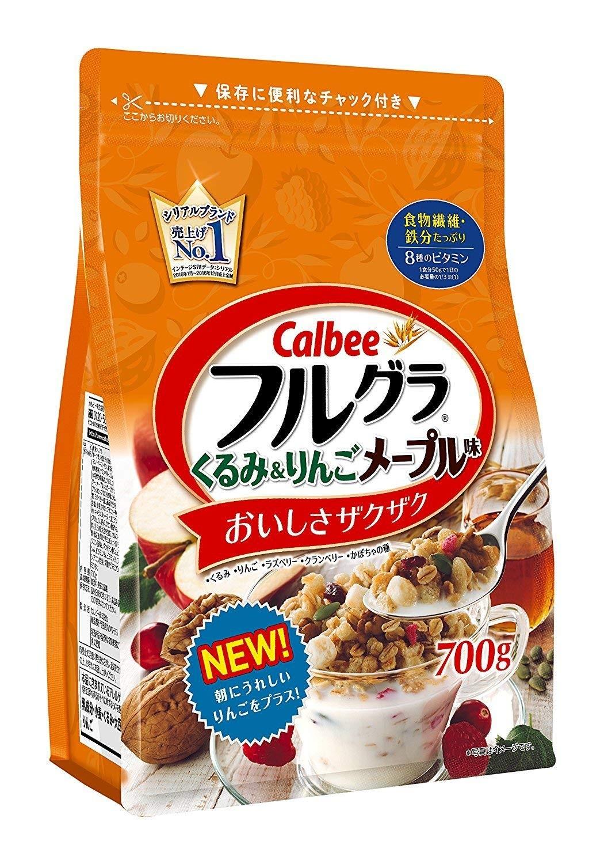Ngũ cốc Calbee 700g Táo, Óc chó - Hàng Nhật nội địa