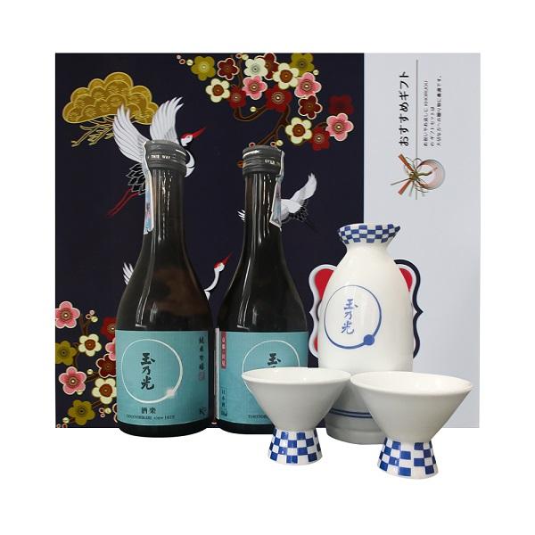Rượu Sake Tamanohikari Junmai Ginjo Shuraku 300ml- Hàng Nhật nội địa