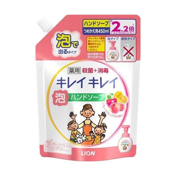 Nước rửa tay Lion 450ml hương đào ( dạng túi)- Hàng Nhật nội địa