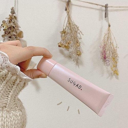 Kem trang điểm chống nắng Sugao hồng (Pink White) - Hàng Nhật nội địa