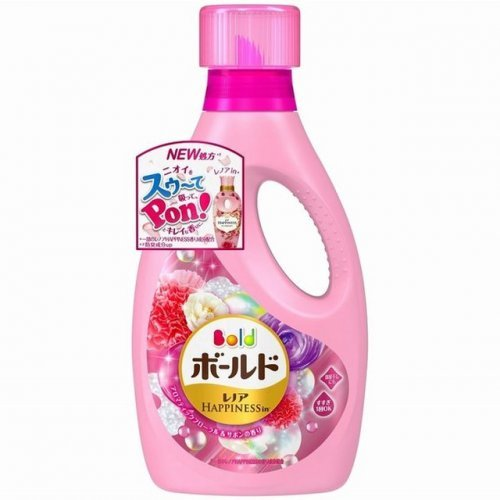 Nước giặt xả 2 in 1 Bold P&G chai 850g màu hồng - Hàng Nhật nội địa