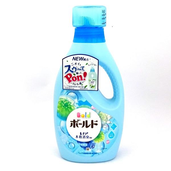 Chai nước giặt xả Gell Ball màu xanh hương thảo mộc - Hàng Nhật nội địa