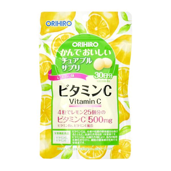 Viên uống Vitamin C Orihiro dạng gói 120 viên - Hàng Nhật nội địa