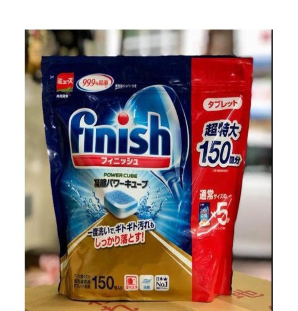 VIÊN RỬA BÁT FINISH NHẬT BẢN 150 VIÊN SIÊU SẠCH 99.9% - Hàng Nhật nội địa