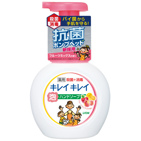 Nước rửa tay Lion 250ml hương đào - Hàng Nhật nội địa