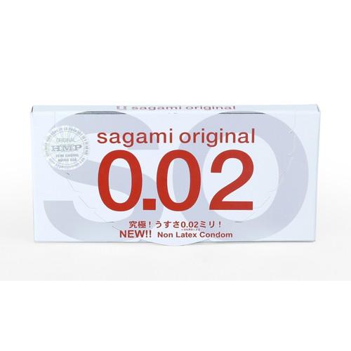 Bao cao su siêu mỏng Sagami Original 0.02 (2 chiếc) - Hàng Nhật nội địa