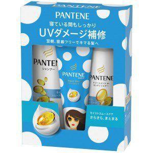 Bộ dầu gội & xả Pantene sét 3 màu xanh dương (450ml+400g+70g) - Hàng Nhật nội địa