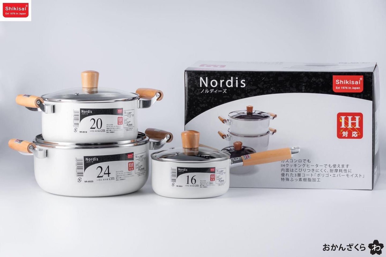 Bộ nồi Nordis Made in Japan - Hàng Nhật nội địa