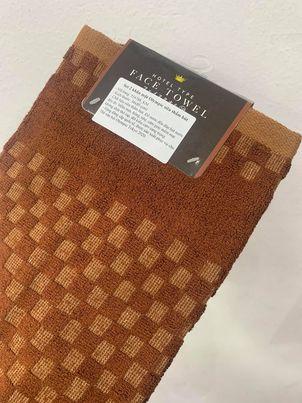 Set 2 khăn mặt Olympic 100% cotton siêu thấm hút (size 34*80cm) - màu nâu - Hàng Nhật nội địa
