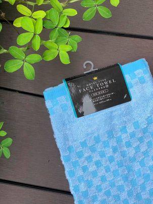 Khăn tắm Olympic 100% cotton siêu thấm hút (size 60*120cm) - màu xanh dương - Hàng Nhật nội địa