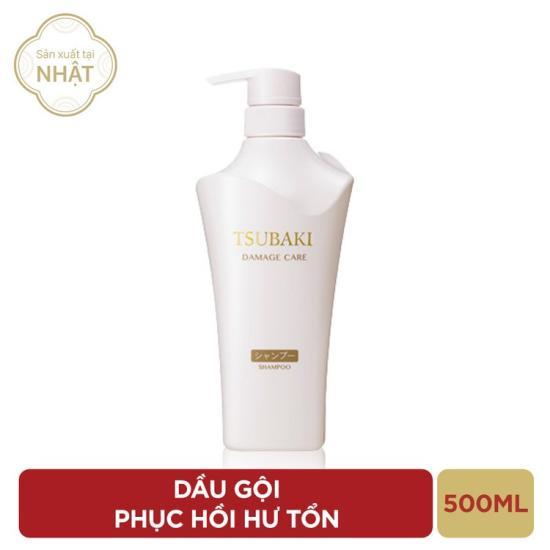 (Sale 50%) Dầu gội phục hồi hư tổn Tsubaki 500ml dành cho tóc nhuộm - Hàng Nhật nội địa