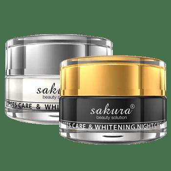 BỘ SẢN PHẨM KEM LÀM MỜ THÂM NÁM CAO CẤP SAKURA Spots Care  & Whitening Day Cream