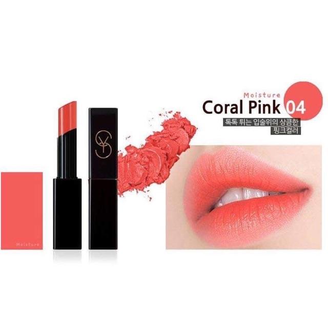 Son Dưỡng Collagen YMS04 - Coral Pink - Hồng san hô