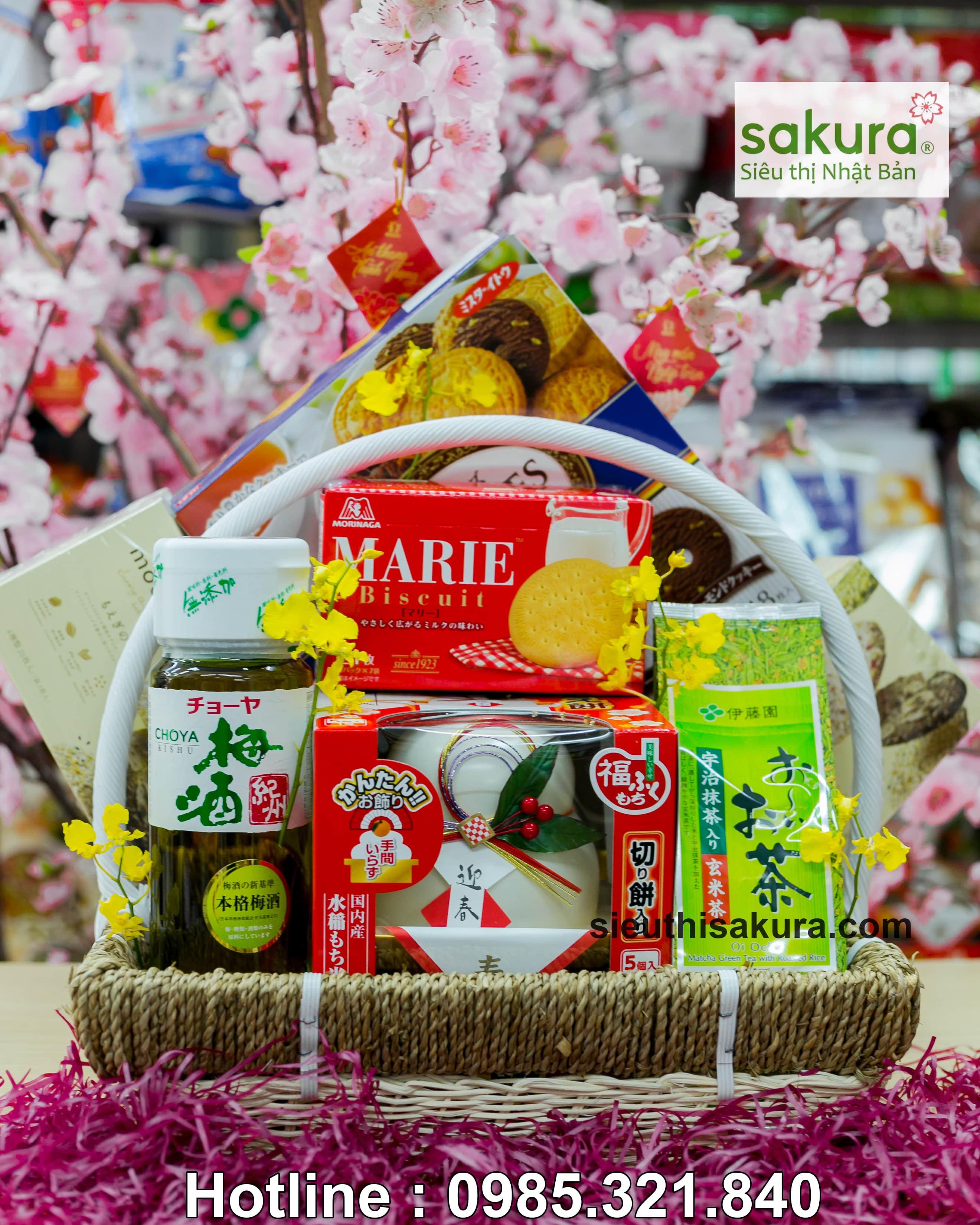 Set giỏ quà tết Sakura: Xuân Hạnh Phúc